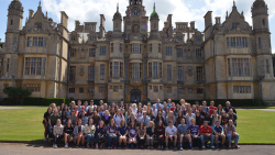 Student group in front of Harlaxton